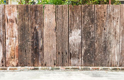 Old wooden fence. Royalty Free Stock Photo