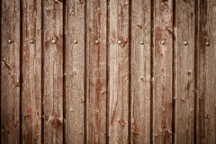 Old wooden fences, fence planks as background Royalty Free Stock Photography