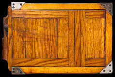 Old wooden film holder. Old wooden film holder isolated on black Stock Images