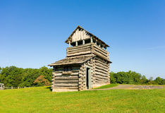 An old wooden fire tower in the appalachians Royalty Free Stock Photos