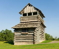 An old wooden fire tower in the appalachians Stock Photos