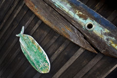 Old wooden fish Stock Image