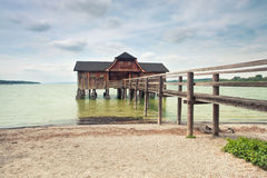 Old wooden fishermans house Royalty Free Stock Image