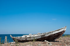 Old wooden fishing boat Royalty Free Stock Images
