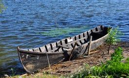 Boat in Danube Delta. Traditional fishing boat in the Danube Delta, Romania stock photos