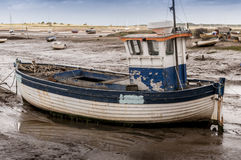 Old wooden fishing boat Stock Photos