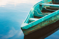 Old Wooden Fishing Boat In River Royalty Free Stock Photography
