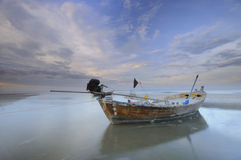 Old Wooden Fishing Boat in Thailand Royalty Free Stock Images