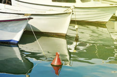 Old wooden fishing boats in soft light Royalty Free Stock Photography