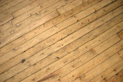 Old Wooden Floor. An old wooden floor washed out by age Royalty Free Stock Image