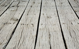 Old wooden floor from an abandoned scene Royalty Free Stock Images