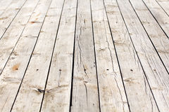 Old wooden floor with cracks and knots Stock Photos