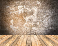 Old wooden floor and grunge background Stock Image