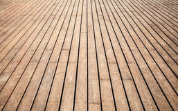 Old wooden floor perspective. Background texture Stock Image