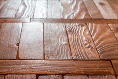 The old wooden floor. Stock Photos