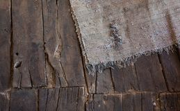 Old Wooden Floor Rug Royalty Free Stock Photo
