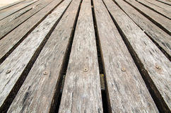 Old wooden floor texture for background Royalty Free Stock Photos