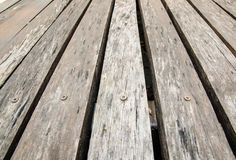 Old wooden floor for texture and background Royalty Free Stock Photos