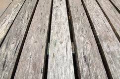 Old wooden floor for texture and background Royalty Free Stock Photo