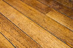 Old wooden floor Royalty Free Stock Photos