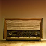 Old wooden fm am radio Stock Images