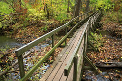 Old Wooden Foot Bridge Royalty Free Stock Image