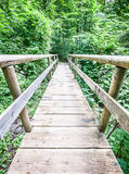 Old wooden footbridge Royalty Free Stock Photography