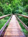 Old wooden footbridge Stock Image