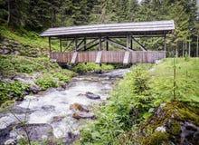 Old wooden footbridge Stock Photos