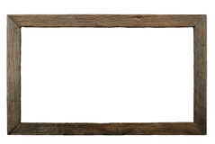 Old Wooden Frame. Isolated wooden frame made by wood burning technique Royalty Free Stock Images
