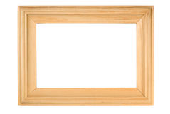 Old wooden frame. Old wooden photo frame on white stock image