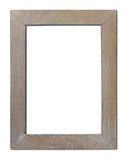 Old wooden frame isolated. Stock Photos