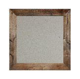 Old wooden frame isolated and have brown paper background. Old wooden frame isolated and have brown paper background on white Backdrop Stock Photos