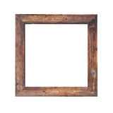 Old wooden frame isolated. Royalty Free Stock Images