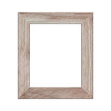 Old wooden frame isolated. Stock Image