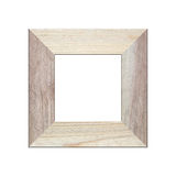Old wooden frame isolated. Stock Photo