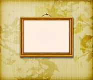 Old wooden frame for photo Royalty Free Stock Photography