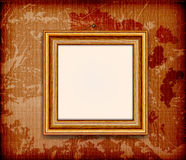 Old wooden frame for photo Stock Image
