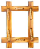 Old wooden frame with rope Stock Photography