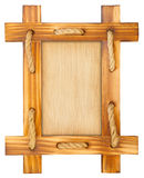 Old wooden frame with rope Royalty Free Stock Photography