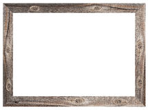 Old wooden frame. On white background Stock Photography