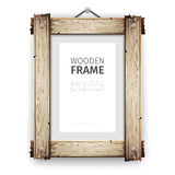 Old Wooden Frame with White Paint Stock Photography