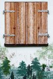 Old wooden frame  window Stock Image
