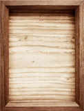 Old wooden frame on wood background. Royalty Free Stock Photography