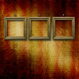 Old wooden frames for photo Royalty Free Stock Photography