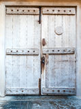 Old wooden front door Stock Photo