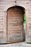 Old wooden front door Stock Image