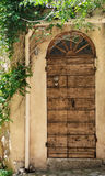 Old wooden front door Royalty Free Stock Images