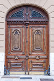 Old  wooden Front Door of a Luxurious Town House Stock Photography