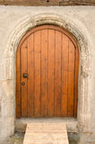 Old wooden front door in Tuebingen, Germany Royalty Free Stock Photo